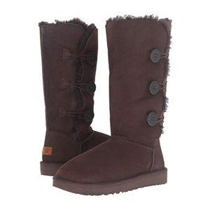 UGG Bailey Triple Button II Suede Tall Boots 8